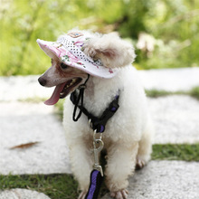 Lovely Pet 2017 New Puppy Outdoor Sunbonnet Cap Dog Baseball Cap Summer Canvas Visor Hat Drop Shipping 70802(China)