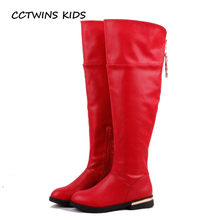 CCTWINS KIDS 2017 Baby Girl Children Over-Knee-High White Boot Toddler Fashion Tassel Boot Pu Leather Fringe Black Boot CH136(China)