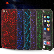360 Degree Full Body Protection Three-dimensional Stars case for iPhone 7 6 6S Plus SE 5 5s For iPhone 7 Cover +Tempered Glass