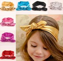 7 Colors On Sale Cute Girls Head wraps Metallic Messy Bow Head wraps Jersey Headwraps Big Gold Knot Headband Hair Accessories
