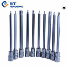 "PENGGONG Screwdriver Bit 200mm Torx Socket Bits T20~T70 Adapter 1/2"" Drive Socket Hand Tool(China)"