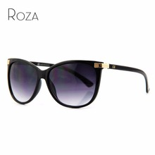ROZA Brand Designer Hot Selling Sunglasses Women Cat Eye Oversize Frame Mirror Lens Sun Glasses CE UV400 AE0098
