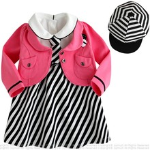 girls school uniform wear uniforms shampooers store baby girl outfit sets winter new years boutique outfits 3 pcs clothing set(China)