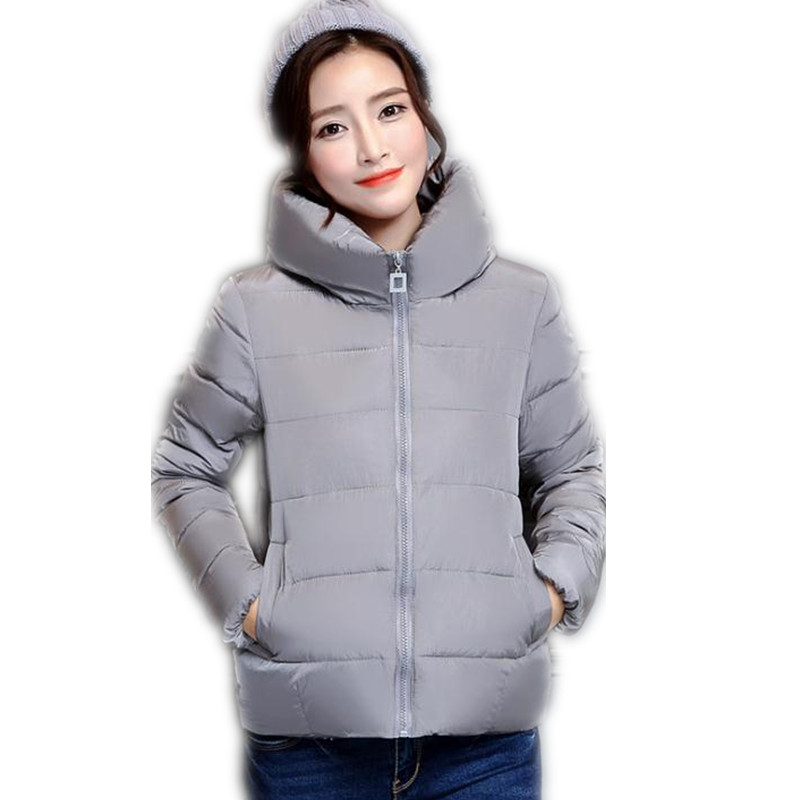 2017 New Simple Women Winter&amp;Autumn Short Down CottonJacket  Coat Women Female Plus Size L-4XL Outerwear Cotton Slim Parka CQ107Îäåæäà è àêñåññóàðû<br><br>