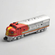 "New 1/160 10cm 4"" Diecast SANTA FE Train Model Collectible Vehicle Car Toy For Kid Gift"