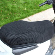 Motorcycle Seat Covers 3D Black Motorcycle Electric Bike Net Seat Cover Breathable Protector Cushion 2017 automoblie accessories(China)