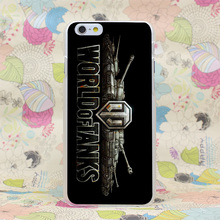 1128HJ World Of Tanks Mode Hard Transparent Case Cover for iPhone 4 4s 5 5s SE 5C 6 6s Plus