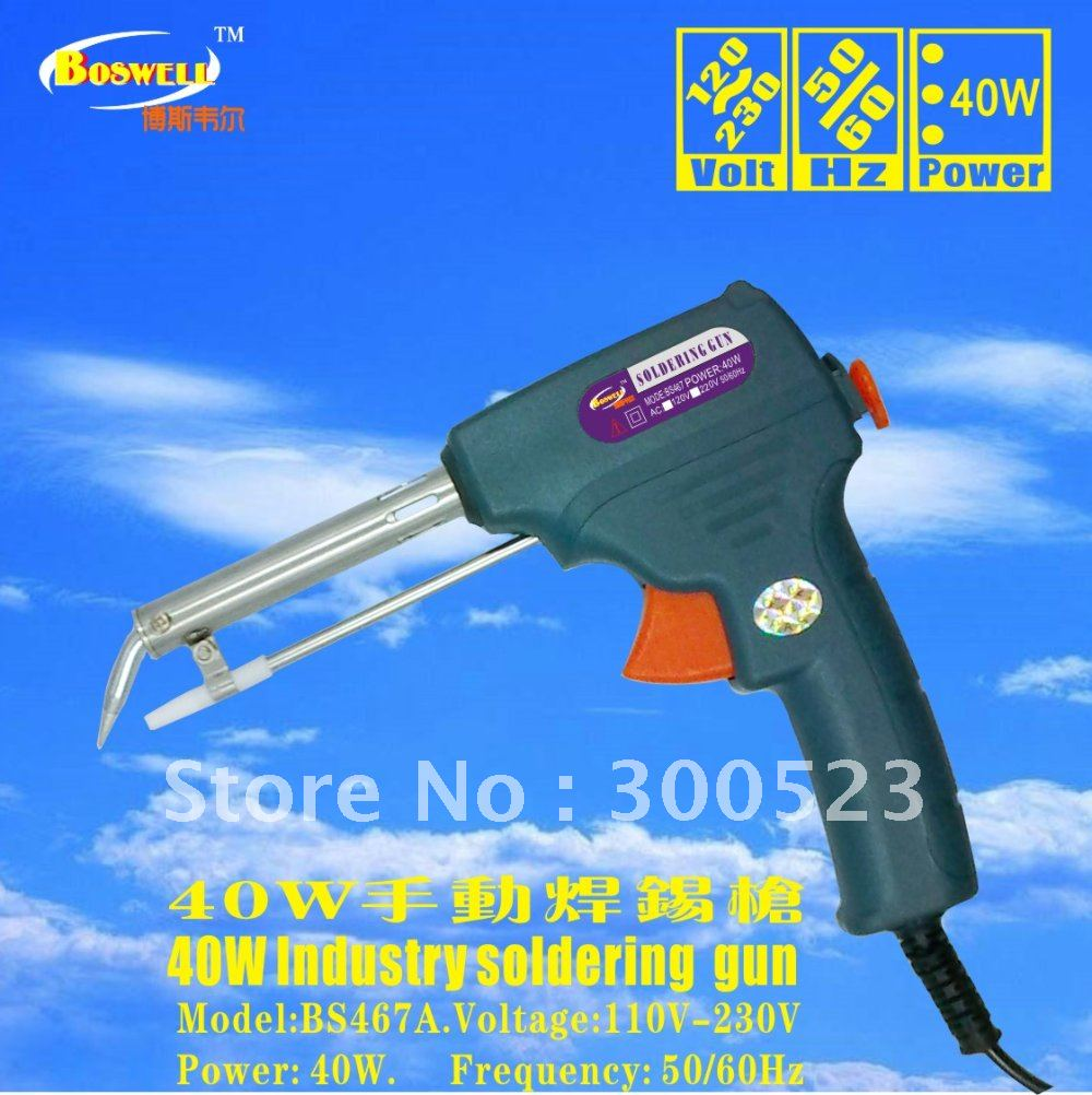 Free sippong,North American standard electrical plug.120V. 40W soldering gun+Tin wire stent +Tin wire diameter 1.0mm, 1pcs/lot<br>