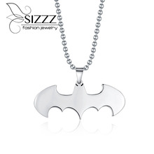 Buy Summer Jewelry Collier Free Fashion Jewelry Slippy Bat Batman Sign Pendant 316l Stainless Steel Necklaces Chain Mens for $2.54 in AliExpress store