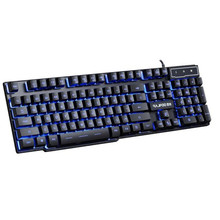 Binmer USB Wired 3 Colors LED Backlight Multimedia PC Gaming Keyboard Top Quality Best Feel Sep 01(China)