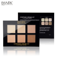 IMAGIC 6 Colors Concealer Cream Contour Palette Kit Pro Makeup Palatte Concealer Face Primer Net 30g All Skin 1pcs free shipping(China)