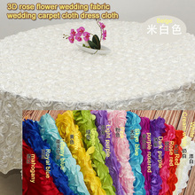 Satin rose 3d three-dimensional embroidered fabric wedding carpet table cloth dressing fabric home furnishing fabric