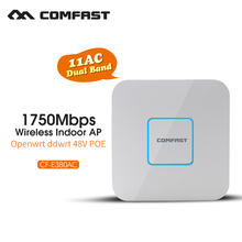 COMFAST Wireless Indoor Ap Comfast 1750Mbps Wifi Signal Amplifier Repeater Dual band Gigabit 48V POE Access Point CF-E380AC