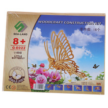 3D Woodcraft DIY Butterfly Puzzle Toy Gift for Children(China)