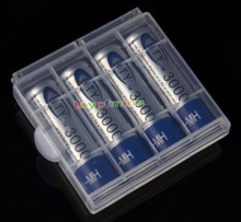 4x 2A AA 3000mah NiMH Rechargeable Battery + 1x Plastic Case