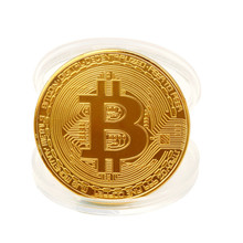 Buy Hot Sale 50Pcs Bitcoin Coin Gold Sliver Plated Collectible BTC Coins Art Collection Physical Gift New Souvenir Coin Support for $29.93 in AliExpress store