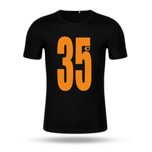 2017 Fashion KD T Shirt Men Print Number 35 T-shirt Summer O-neck Short Sleeve Men Casual White T Shirts Male Black Top Tees