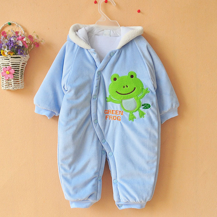 cartar romper baby thick cotton rompers cartoon boy/girl jump suit winter infant garment Wholesale And Retail<br>