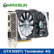 Buy Maxsun GTX1050Ti Terminator 4G Video Graphics Card 7000MHz 128bit GDDR5 16nm PCI-E 3.0 X16 HDMI+DP+DVI 2 Cooling Fans Gaming for $249.00 in AliExpress store