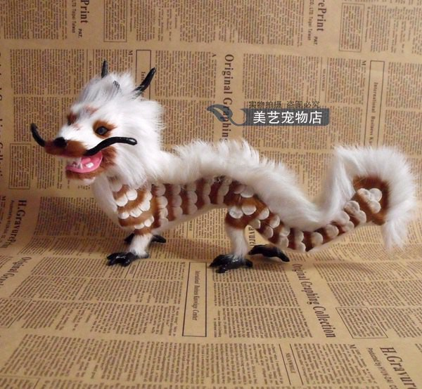 simulation chinese dragon model,polyethylene&amp;fur 30x12x18cm handicraft toy home decoration Xmas gift b3845<br>