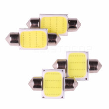 1piece 31mm 36mm 39mm 41mm 12 Chips COB LED Bulb C5W C10W Car Dome Light Auto Interior Map Roof Reading Lamp DC12V White Color(China)