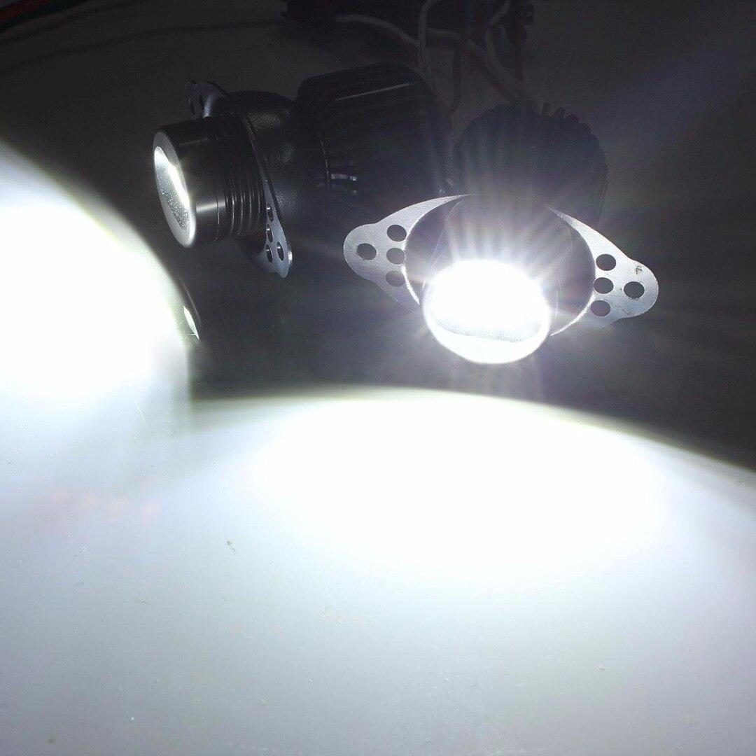 JX-LCLYL 2pcs 20W LED Angel Eyes Marker Halo Ring Light Bulb For BMW E90 LCI White