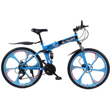 ALTRUISM X9 Mountain Bike Steel 24 speed 26 inch Folding bicycle Double Disc Brake Bikes(China)
