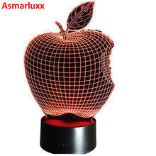 Apple Fruit Shape LED Night Light Novelty Lamp Changing Colors Party Home Decor Great Gift for Children Room Decorative Luminous(China)