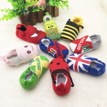 Cute Novelty Newborn Baby Boys Infant Shoes Winter Soft Cotton Baby First Walker Baby Shoes Boy Toddler Keep Warm Thick shoes(China)