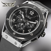 JARAGAR Automatic Watches Men Luxury Brand Hub Mechanical Watch Silicone Bands Male Functional Sport Watch World Famous Clock