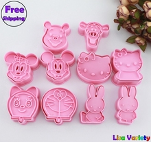 Free Shipping 5sets mickey  rabbit Winnie hello kitty cookie cutters mold