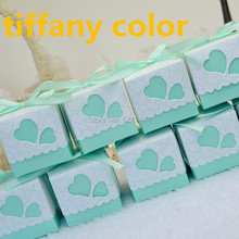100pcs Wedding Favor Square Blue Candy Boxes Wedding Package Gifts Box for wedding decoration or holiday supplies