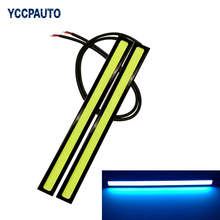 DRL Daytime Running Lights Fog Light 17CM LED COB car styling Waterproof Bar Driving Lamps White Ice Blue Accessories 2pcs