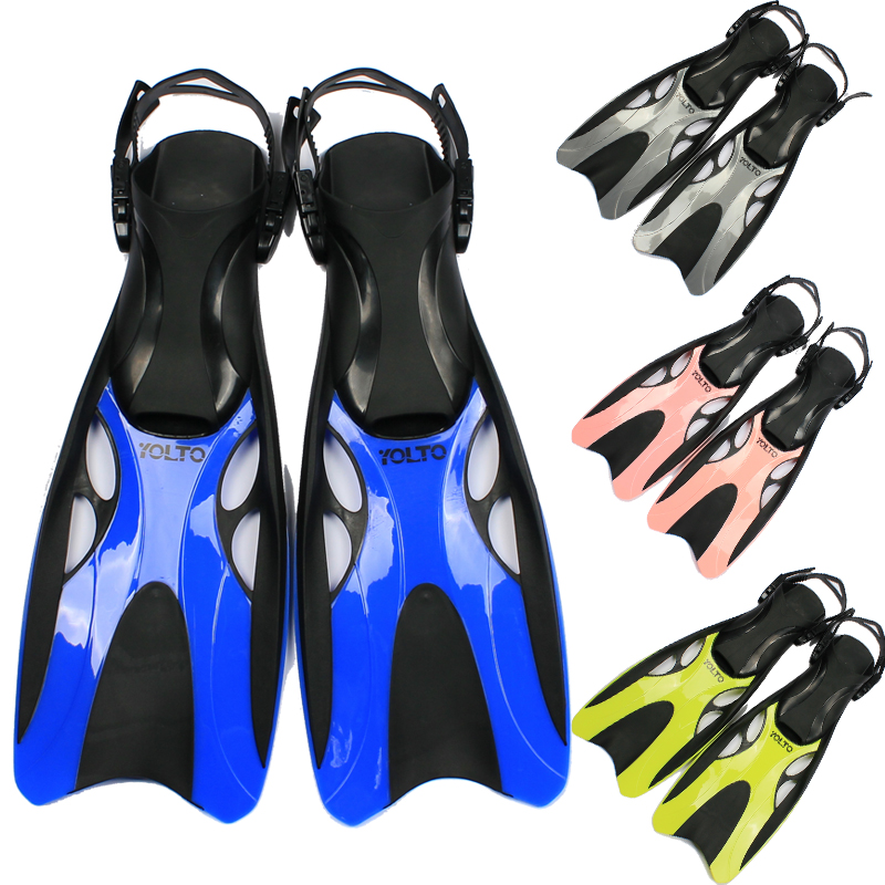 Yolto adjustable fins child adult snorkeling submersible triratna fins flippers for hands<br><br>Aliexpress