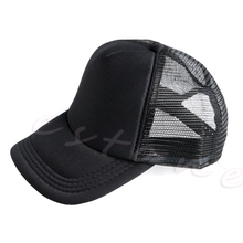 Pure Color Mens Tennis Cap Trucker Mesh Sports Cap Blank Curved Visor Ladies Tennis Hat Adjustable(China)