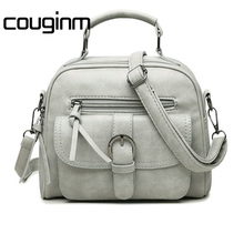 COUGINM New Arrival Fashion Women Shoulder Bag Casual Simple Totes Fresh Cherry Messenger Matte PU Leather Hand Bag
