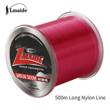 Lmaide Fishing Line 500m Nylon Monofilament Line for Ocean Carp Fishing Mono Line 4-39 LB Strength 500m Fishing Line Nylon LMD01(China)