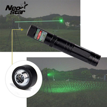 Green Laser Pointer Pen Military Lazer Beam High Power 5mw Presenter Laser Puntero For Exploration Teaching Meeting + Star Cap