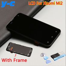 Screen For Xiaomi mi2 100% New LCD Display+Touch Screen With Frame Replacement for Xiaomi 2 m2 2s Cell Phone In Stock Free Ship