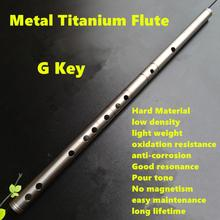 Titanium Metal Flute Dizi G Key Flute Open Hole Profissional Metal Flauta Music Instrument Dizi Self-defense Weapon Metal Flutes(China)
