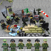 6pcs Navy Seals Team MILITARY US Army UDT WW2 Weapons SWAT Soldiers Mini Building Blocks Bricks Figures Gifts Toys Boys Children