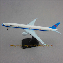 19cm Alloy Plane Model Air China Southern Airlines B777-300ER Aircraft Boeing 777 Airways Airplane Model w Stand Wheels Kids