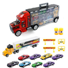 High Quality Large portable box container truck toys for children Birthday Present Toys Wholesale Free Shipping