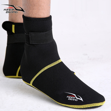 3mm Neoprene Snorkeling Shoes Scuba Diving Socks Beach Boots Wetsuit Prevent Scratches Warming Non-slip Winter Swimming Seaside(China)