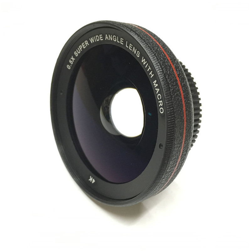Professional 2in1 0.5X Super Wide Angle Lens 13.5X Super Macro Phone Lens Metal For iPhone 6S Plus SE Smartphone HD Camera Lens 8