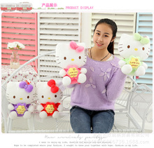 lovely hello kitty love you always kitty ,cat plush toy soft throw pillow,proposal, birthday gift w5418(China)