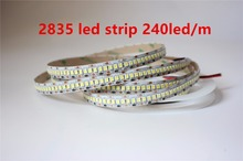 5M 12V IP20 Non waterproof  2835 LED Strip 240 led Flexible light 5M/Reel showcase led more bright LED strip white