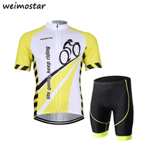 Riding Life Cycling Short Sleeve Jersey Shorts Kit Set Summer Men's Outdoor Sports Clothing Cycle Maillot Roupa Ropa De Ciclismo