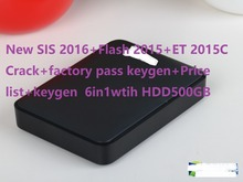 New SIS 10-2016+Flash 2015+ET 2015C Crack+factory pass keygen+Price list+keygen  6in1wtih HDD500GB for cat