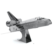 Space Shuttle  Metal 3D Puzzle DIY Assembly Aircraft Model Jigsaws Puzzle for Children Education Kids Toys Creative Gift